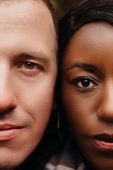 Close Up Portrait of Couple's Faces