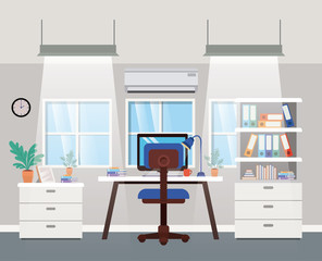 modern office boss scene