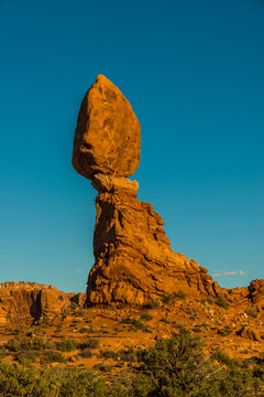 Balanced Rock in the Evening