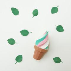 Origami paper multicolored ice cream