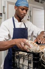 Man working at kitchen