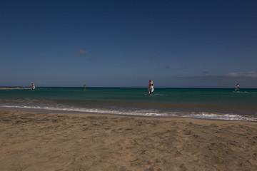 natural landscape of sea rocks and sand