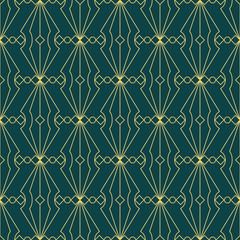 art deco geometric seamless pattern 4 golden line geometric illustration wallpaper graphic design vector