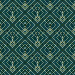 art deco geometric seamless pattern 2 golden line geometric illustration wallpaper graphic design vector