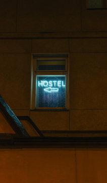 Hostel Sign.
