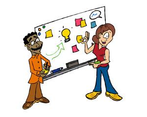 White board facilitation Sophie and Raj