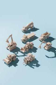 Road work/construction heavy machinery/machines.