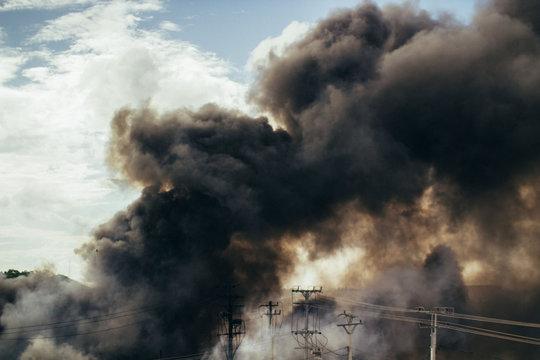Fire in Cambodia