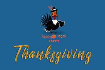 Thanksgiving turkey Cute cartoon
