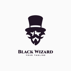 Black wizard logo