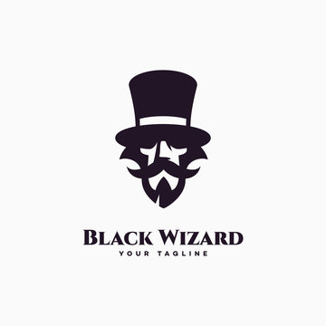 Black wizard logo