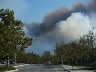 Woolsey Fire,  Wildfire in Los Angeles. November 2018.  Natural disaster
