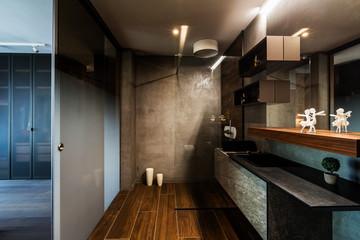 Modern bathroom in contemporary interior