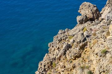 Blue sea and rocks