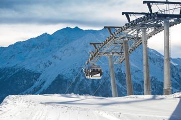 Ski resort in Alps