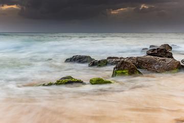 Soft Swirls Rocky Seascape