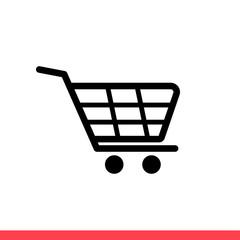Shopping card icon, vector illustration
