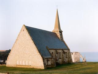 Small church at seaside