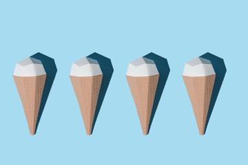 Craft paper ice cream