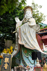 Guanyin or Guan Yin bodhisattva goddess for people visit and respect pray in Tin Hau Temple at Repulse Bay in Hong Kong, China