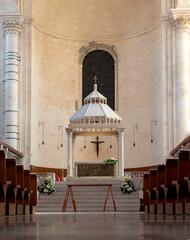internal naves of the St Sabino Cathedral. Bari, Apulia - Italy