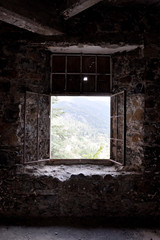 Verlassenes Hotel Berengaria Fenster