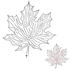 Vector Autumn Maple Leaf Labirynth