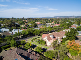 aerial view of Adelaide suburbs
