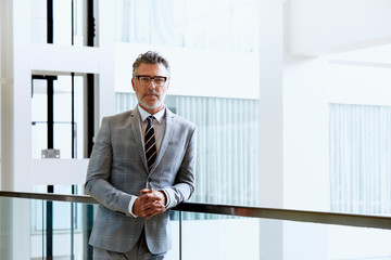 Portrait Of Entrepreneur In Brightly Lit Office