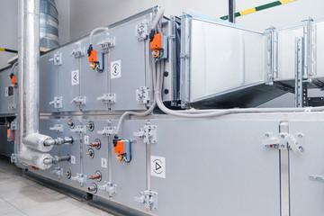 Fototapeta Industrial ventilation handling unit. Recirculation system appliance obraz