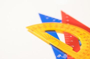 三角定規と分度器