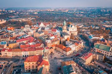 Obraz Lublin z lotu ptaka - fototapety do salonu