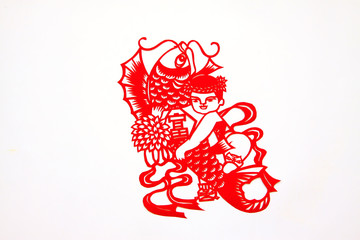 Chinese paper-cut works