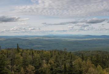 Closeup mountains scenes in national park Kachkanar, Russia, Europe
