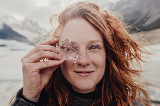 Travel Portrait Glacial Eye Glass in Patagonia
