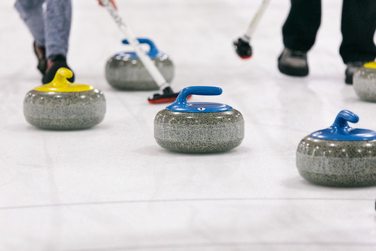Curling: Stone About To Get Knocked By Another