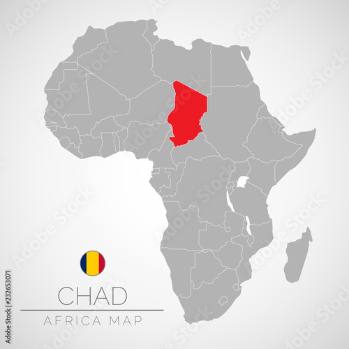 Map of Africa with the identication of Chad. Map of Chad. Political ...