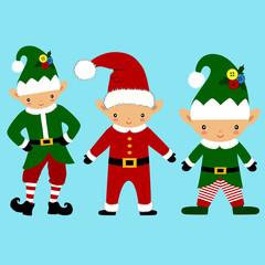 Christmas Elf. Christmas icon. Santa Claus helper. Collection. N