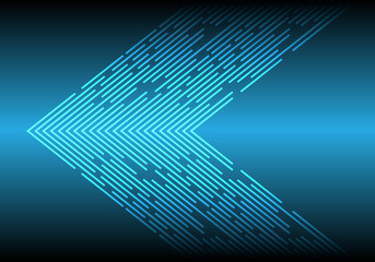Abstract blue light line data arrow direction technology futuristic background vector illustration.