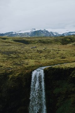 Waterfall on the edge