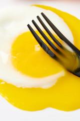 Fried Egg with Broken Yolk