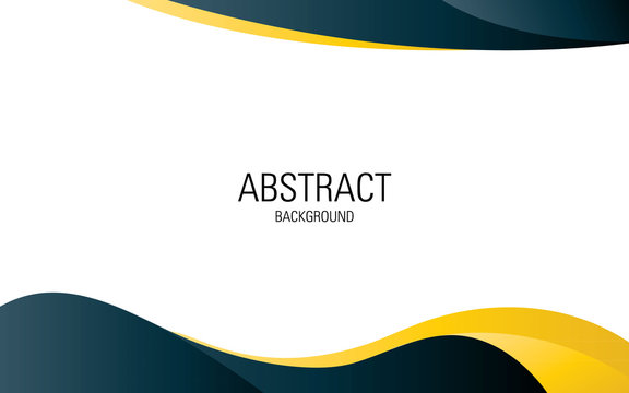 Professional abstract background  template design. wave dark blue and yellow colors.
