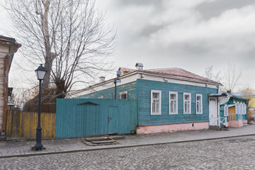 Blue traditional house
