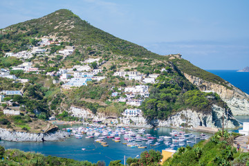 Boats in the port of Ponza