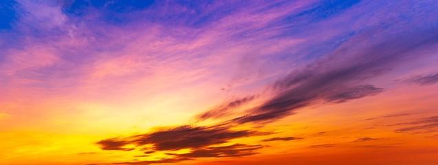 Panorama twilight sky exotic background