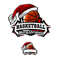 Christmas Basketball Logo