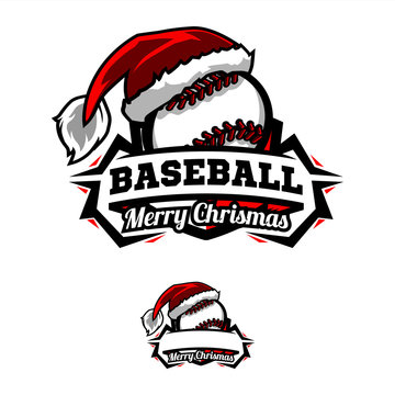 Christmas Baseball Logo