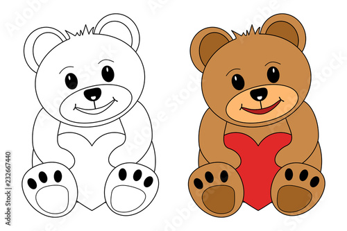 Teddy Bar Zum Ausmalen Stock Image And Royalty Free Vector Files On