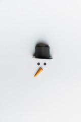 Minimalist snowman made of paper