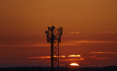Wireless communication mobile cell network tower